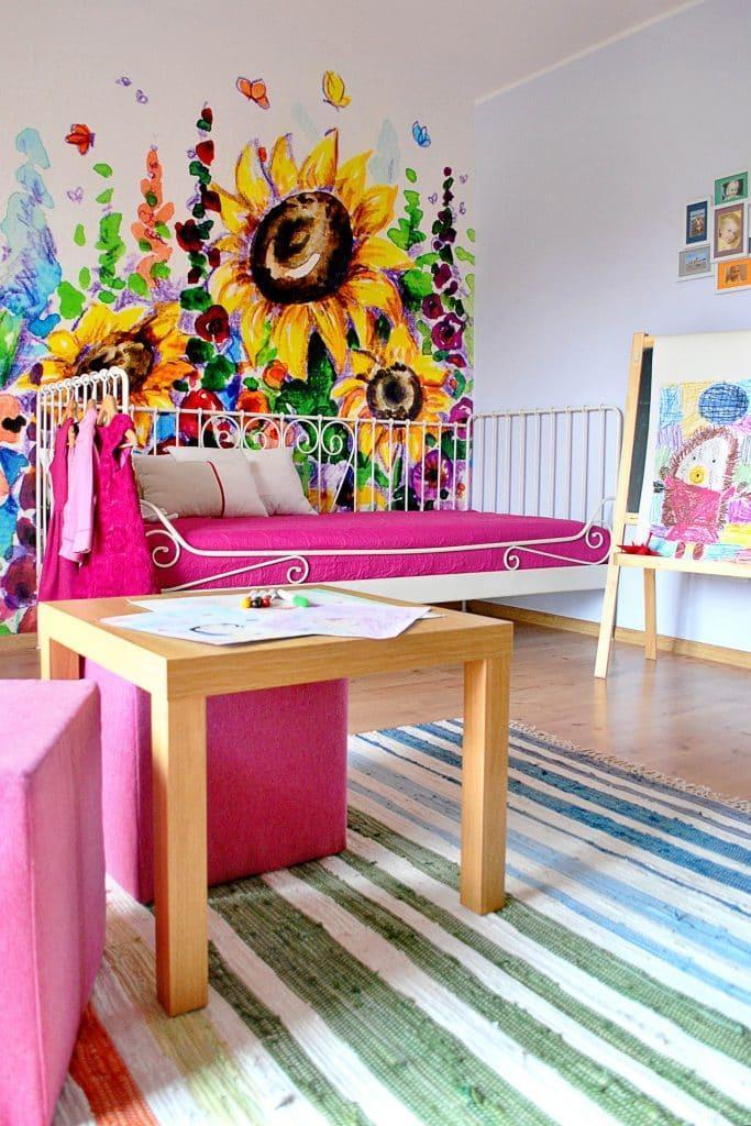 rysunek na ścianie - pokój dziecięcy